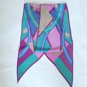 Vera Neumann Vintage Silk Abstract Geometric Scarf